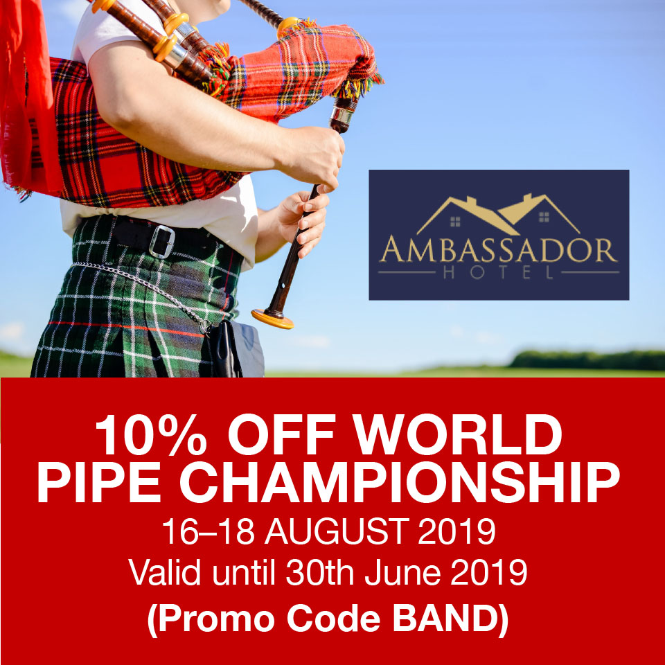 10% OFF World Band Pipe Championship